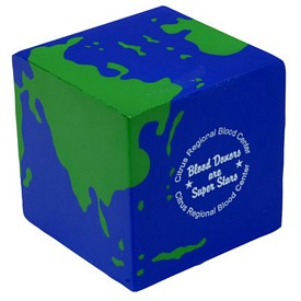 Promotional Earth Cube Stress Reliever