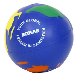 Promotional Multicolored Earthball Stress Reliever