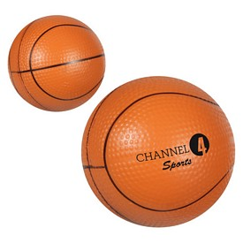 Promotional Gel-Ee Gripper Basketball Stress Reliever