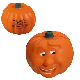 Promotional Pumpkin Smile Stress Reliever