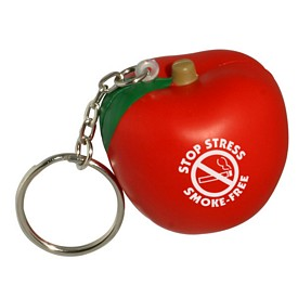 Promotional Apple Key Chain Stress Reliever