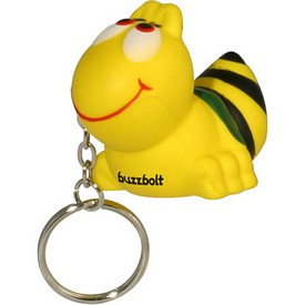 Promotional Bee Key Chain Stress Reliever