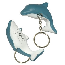 Custom Dolphin Key Chain Stress Reliever