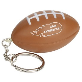 Promotional Football Key Chain Stress Reliever