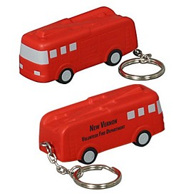 Custom Fire Truck Key Chain Stress Reliever
