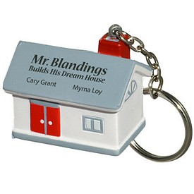 Promotional House Key Chain Stress Reliever
