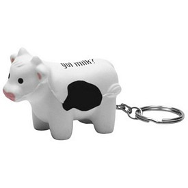 Promotional Milk Cow Key Chain Stress Reliever