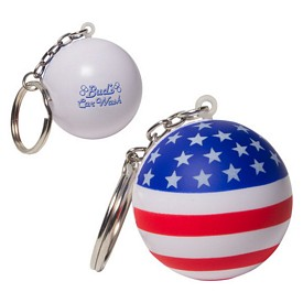 Promotional Patriotic Stress Ball Key Chain Stress Reliever