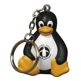 Customized Sitting Penguin Key Chain Stress Reliever