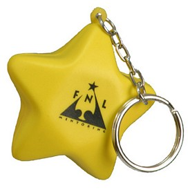 Promotional Star Key Chain Stress Reliever