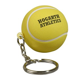Promotional Tennis Ball Key Chain Stress Reliever
