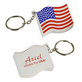 Promotional Us Flag Key Chain Stress Reliever
