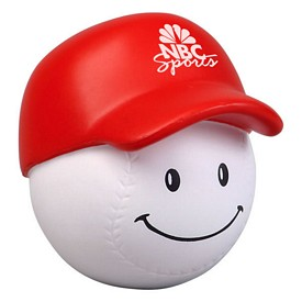 Promotional Baseball Mad Cap Stress Reliever