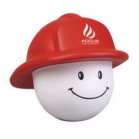Promotional Fireman Mad Cap Stress Reliever