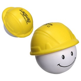 Promotional Hard Hat Mad Cap Stress Reliever