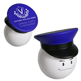 Promotional Policeman Mad Cap Stressball