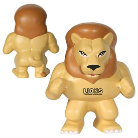 Customized Lion Mascot Stress Reliever