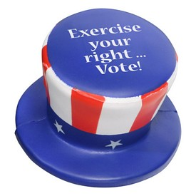 Customized Uncle Sam Patriotic Hat Stress Reliever