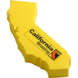 Promotional California Shape Stress Reliever