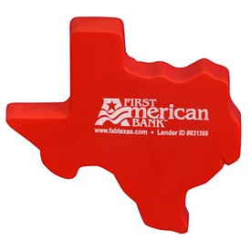 Promotional Texas Shape Stress Reliever