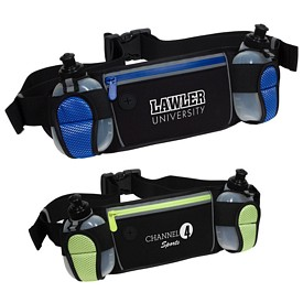 Custom Sleek Water Resistant Sports Waist Pack W- Dual B