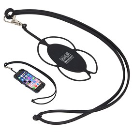 Promotional Silicone Lanyard Smart Phone Holder
