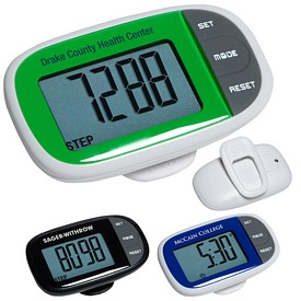 Customized Easy See Pedometer With Clock