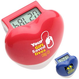 Customized Healthy Heart Step Pedometer