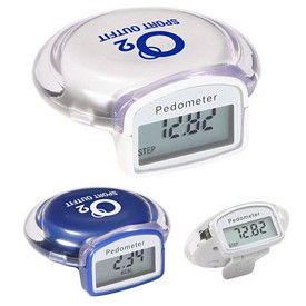 Promotional Round Step Pedometer