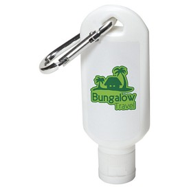 Custom Safeguard 18Oz Sunscreen With Carabiner