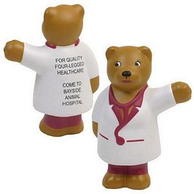 Promotional Nurse Bear Stress Reliever