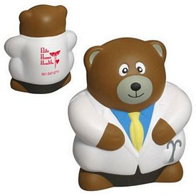 Customized Physician Bear Stress Reliever