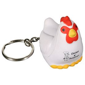 Promotional Chicken Key Chain Stress Reliever