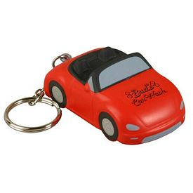 Promotional Convertible Car Key Chain Stress Reliever