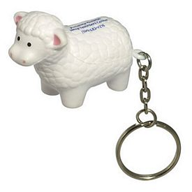 Promotional Sheep Key Chain Stress Reliever