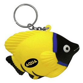Promotional Tropical Fish Key Chain Stress Reliever