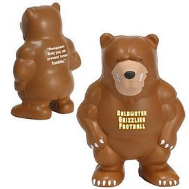 Promotional Bear Mascot Stress Reliever