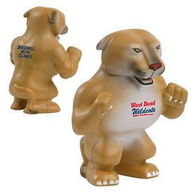 Promotional Wildcat/Cougar Mascot Stress Reliever