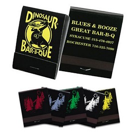 Customized 20 Strike Assorted Black Matchbooks