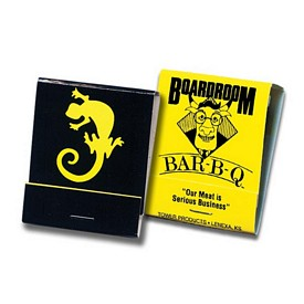 Customized 20 Strike Yellow Board Matchbooks