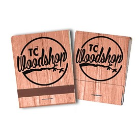 Promotional 20 Strike Wood Grain Matchbooks