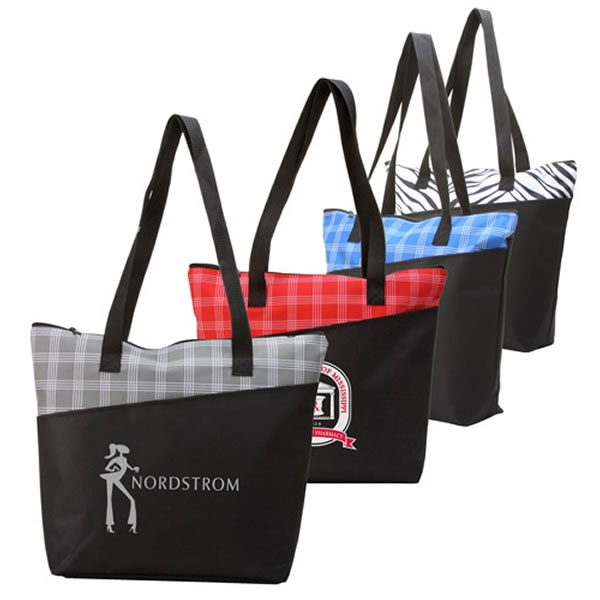Promotional Fashion Pattern Zippered Tote Bag   Customized Fashion Pattern Zippered  Tote Bag   Promotional Polyester Tote Bags a7aa6c27c9