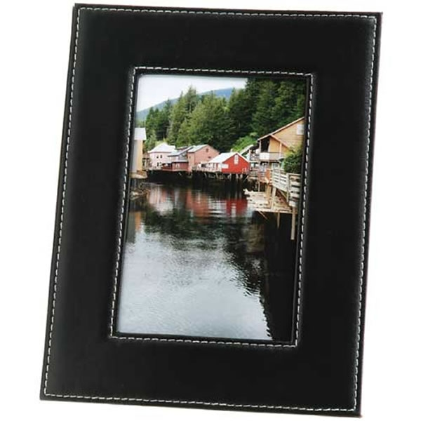 Promotional Black Faux Leather Frame 5x7 Picture Frame | Customized ...