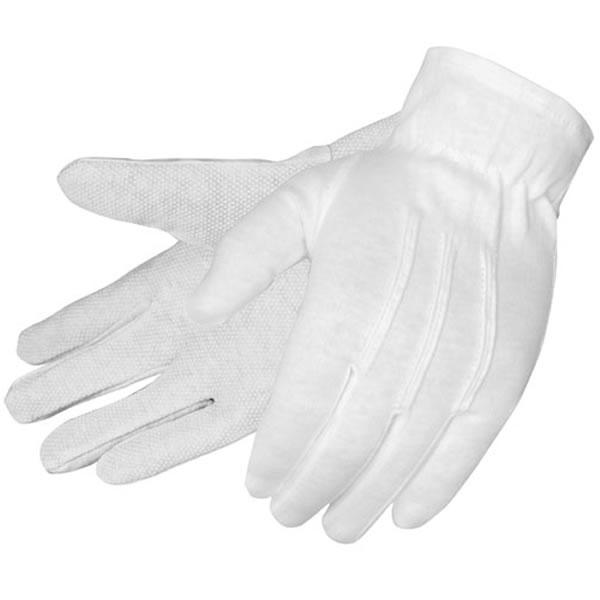 Promotional 100 Cotton Pvc Dot Formal White Dress Gloves