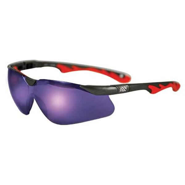 c3a2536296a Promotional Premium Sports Style Blue Mirror Lens Safety Glasses ...