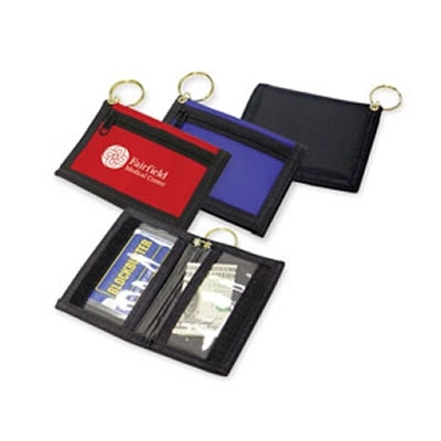 Promotional Bi-Fold Wallet Key Ring