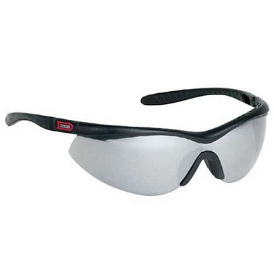 Custom Silver Single-Piece Polycarbonate Lens Wrap Around Safety Glasses