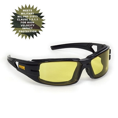 Customized Amber Anti-Fog Trooper Style Premium Safety Sun Glasses