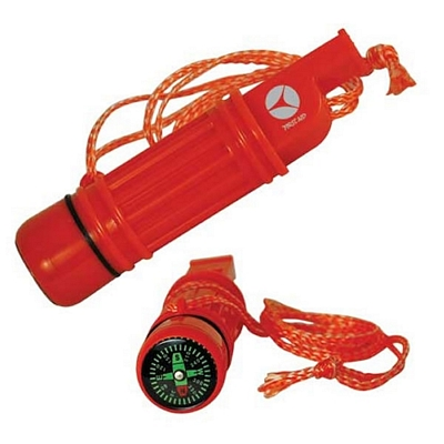 Promotional Orange Survival Whistle With Compass