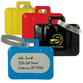 Customized Suitcase Shaped Pvc Luggage Tag
